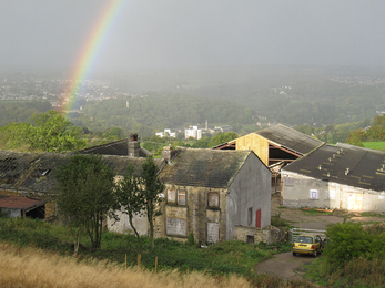 Stirley Farm with rainbow, 2011