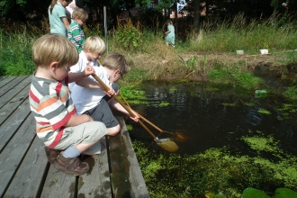 Pond dipping credit Kat Woolley