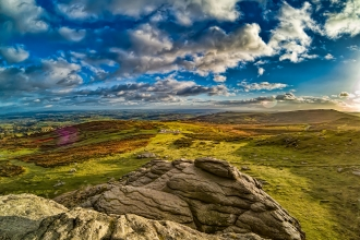 View over Yorkshire landscape