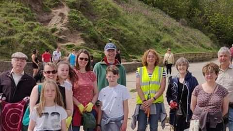 Filey beach clean