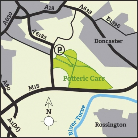 Potteric Carr area map