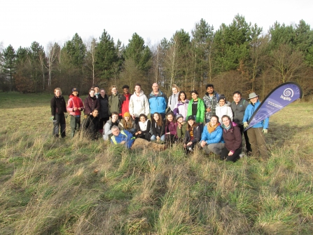 University of Leeds students at Water Haigh Woodland Park