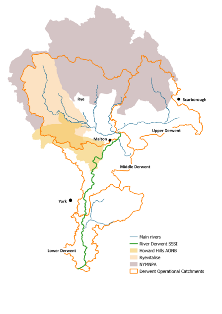Yorkshire Derwent Catchment Partnership map