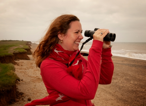 Birdwatcher at Spurn
